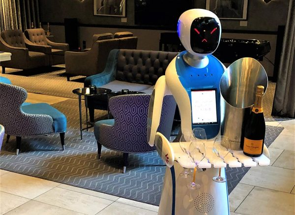 M Restaurants hires Champagne-serving robots