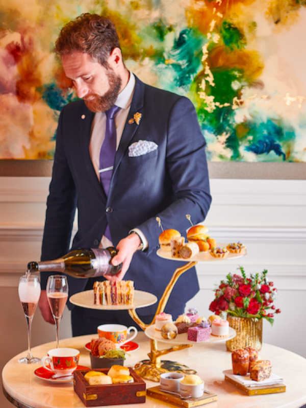 Adam Handling launches pink Prosecco afternoon tea