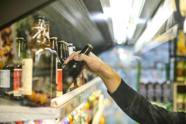 Man buying beer