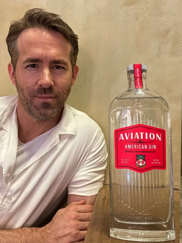 Ryan Reynolds celebrates football club takeover with limited edition Aviation Gin bottle