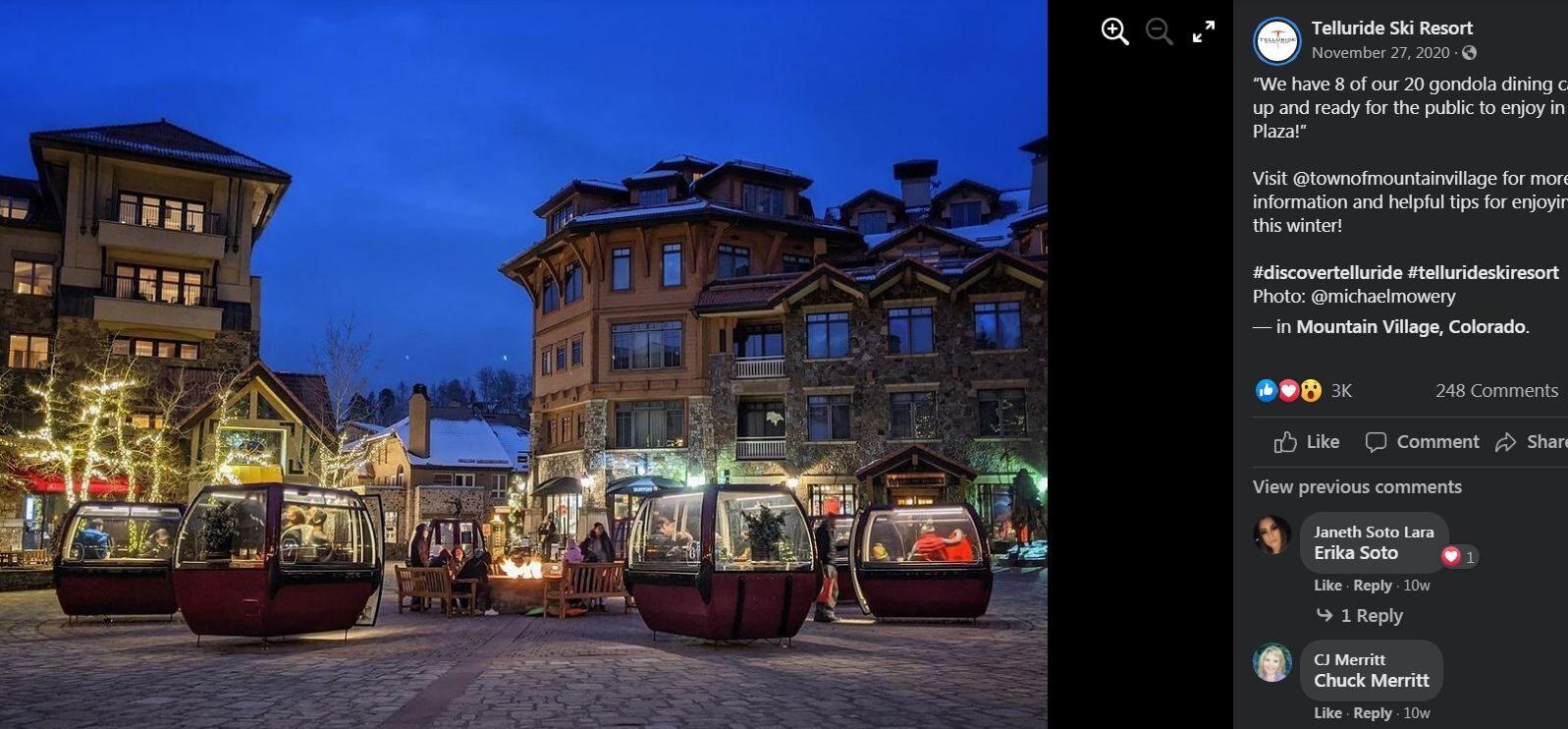 Ski Gondolas private dining