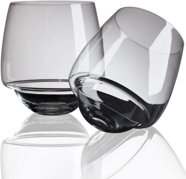 Non-spill wine glass