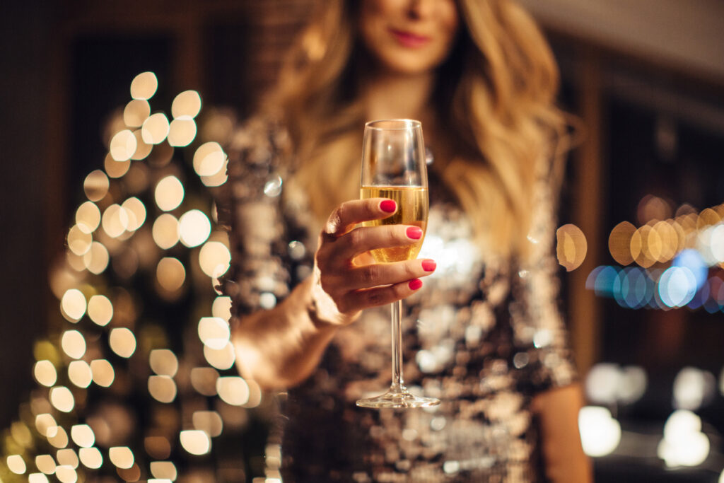 Glass of Champagne - woman accidentally sends boss picture of Champagne