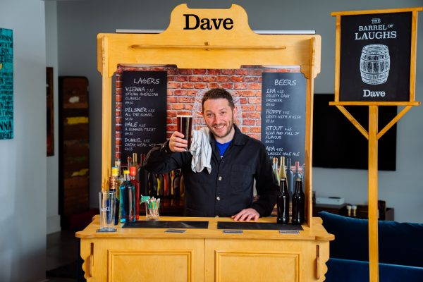 There's now a flatpack pub in a box you can buy for the ultimate easy home bar set up