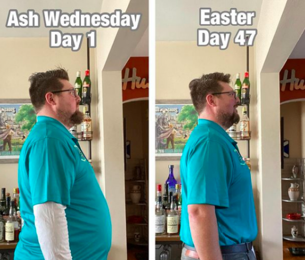 Man loses more than 18kg after consuming nothing but beer for Lent