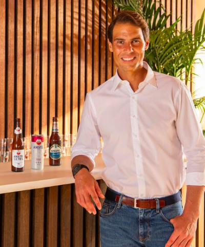 Amstel 0% beer recruits tennis great Rafael Nadal as global ambassador