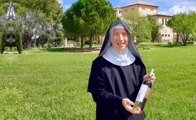 Nuns selling wine