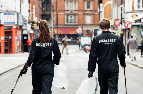 Sustainable spirit brand cleans up Soho streets as lockdown lifts