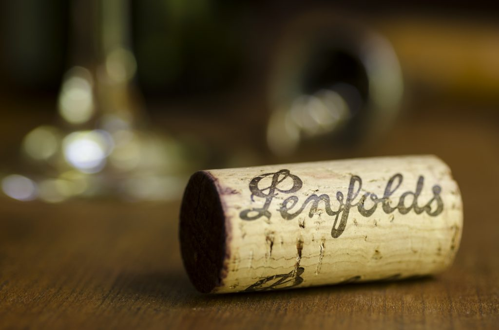 Australian wine exports - a Penfolds cork