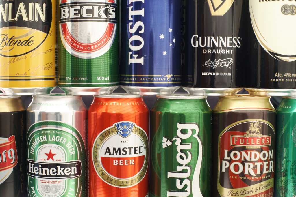 Cans of beer - The UK's favourite beers