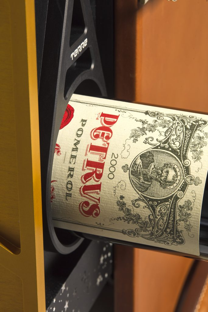 Petrus wine aged in space