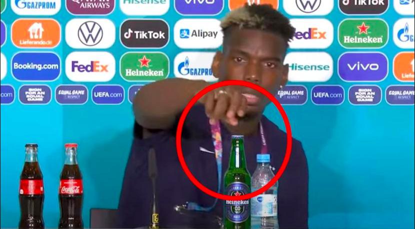 Paul Pogba removes Heineken beer