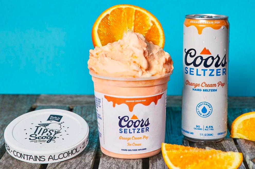 Coors Seltzer Boozy Ice Cream