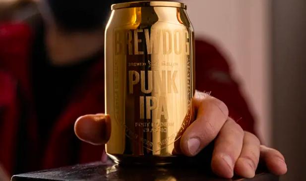 'solid gold' BrewDog beer can