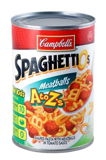 death row meals: SpaghettiOs