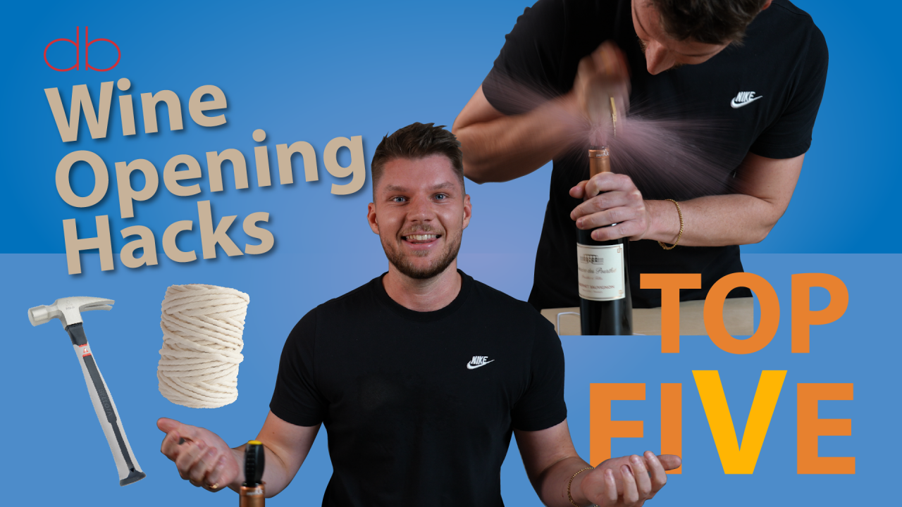 We try five hacks for opening a bottle of wine without a corkscrew