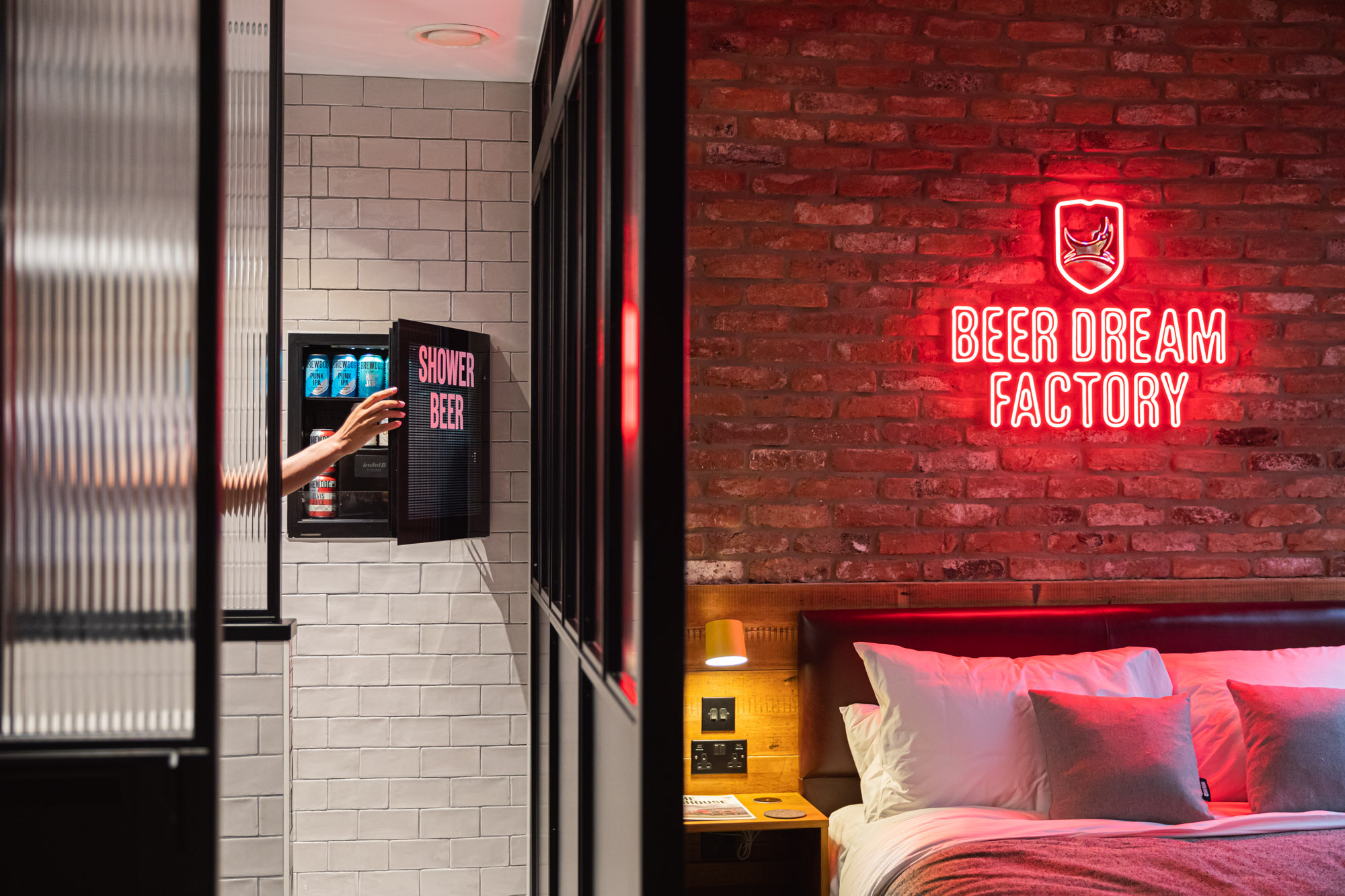Inside one of the rooms in DogHouse Manchester: BrewDog's craft beer hotel launches in Manchester