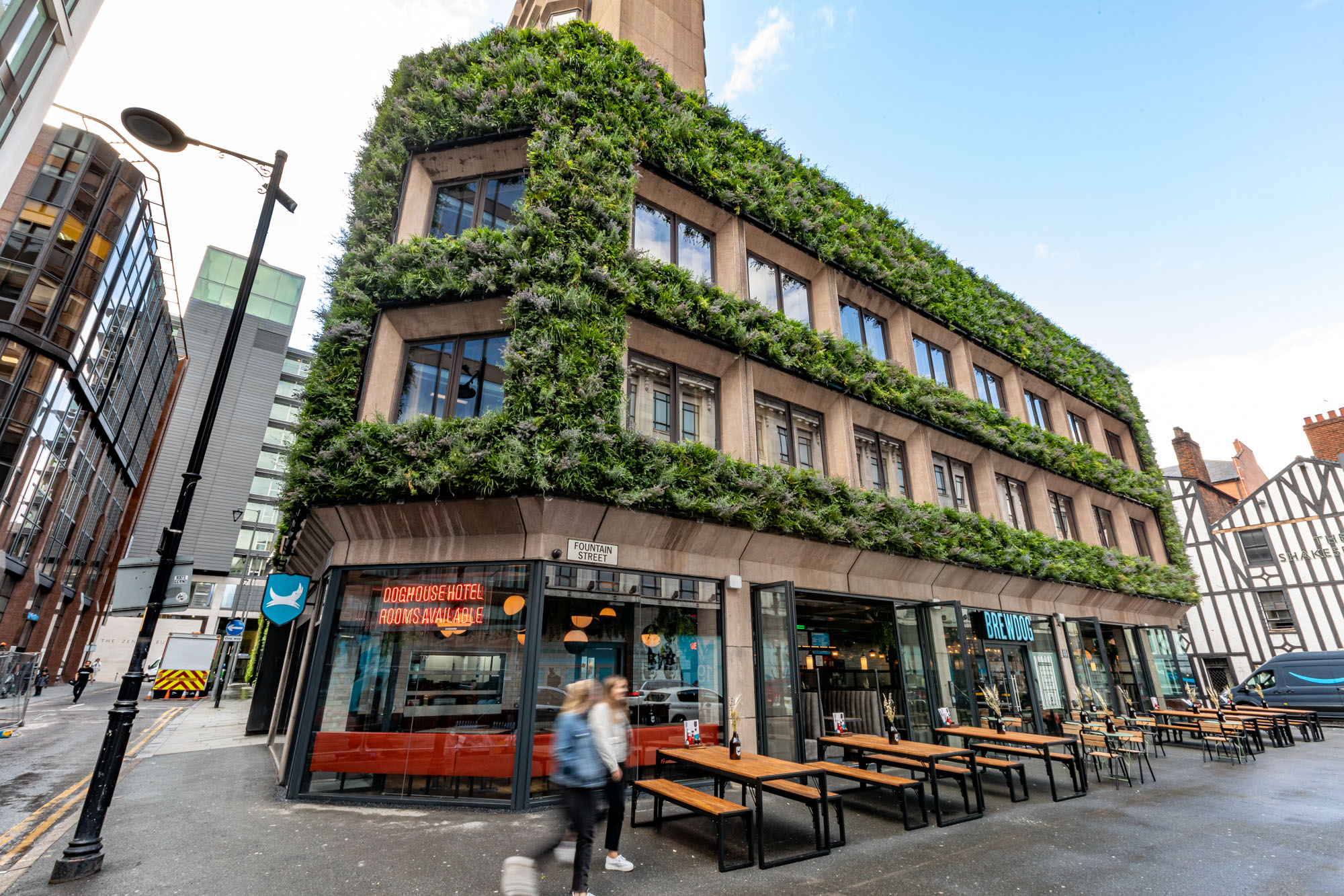 Outside DogHouse in Manchester: BrewDog's craft beer hotel launches in Manchester