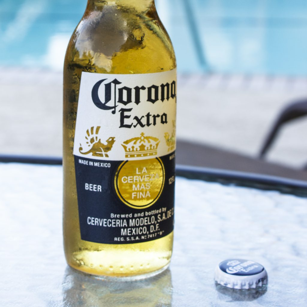 most popular beers on the world - a bottle of corona beer