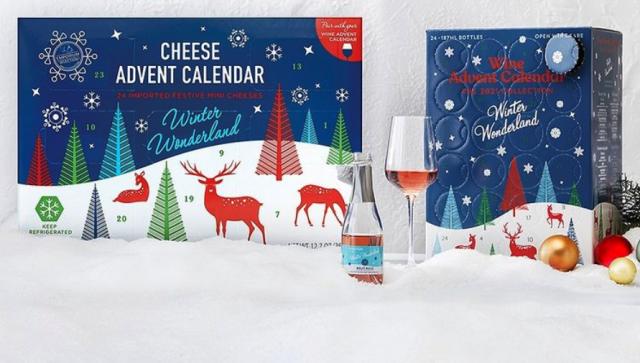 Aldi wine and cheese advent calendars