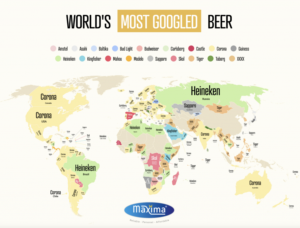 The world's most popular beer chart