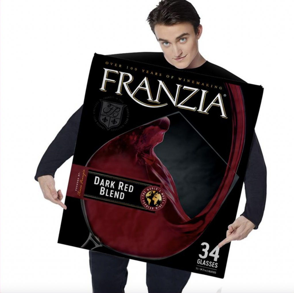 boxed wine Halloween costume