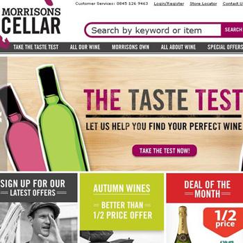 Morrisons Cellar website