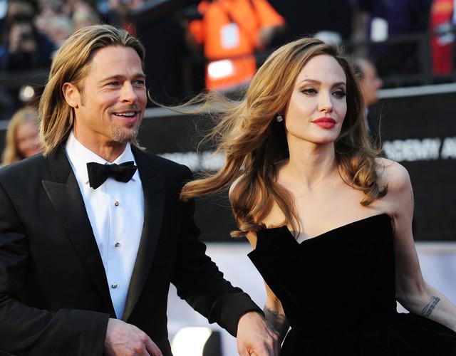 La vie en rosé: Brad Pitt and Angelina Jolie. Credit: Jason Merritt/Getty Images