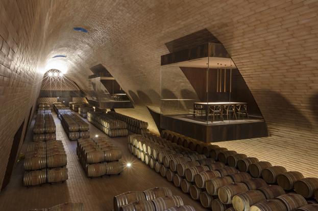 The Antinori cellars, designed by Marco Casamonti