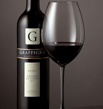 Riedel and Graffigna's Malbec glass