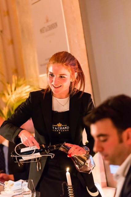 Kathrine Larson of Zuma charms during the restaurant scenario round