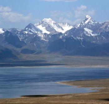 The Chu river, which runs along the Kazakh-Kyrgyz border