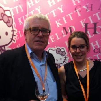 Paul Herman with daughter Marie-Paule, who works in Hong Kong as a sommelier