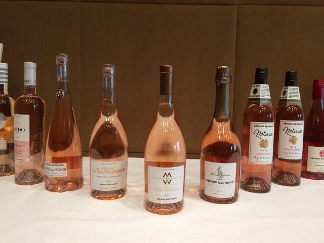 A selection of Gérard Bertrand's growing rosé range