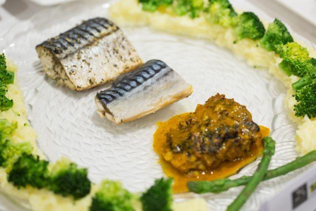 The winning dish, 'Mackerel Trio'