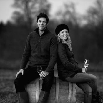 Flint Vineyards' Ben and Hannah Witchell (Photo: Simon Buck)