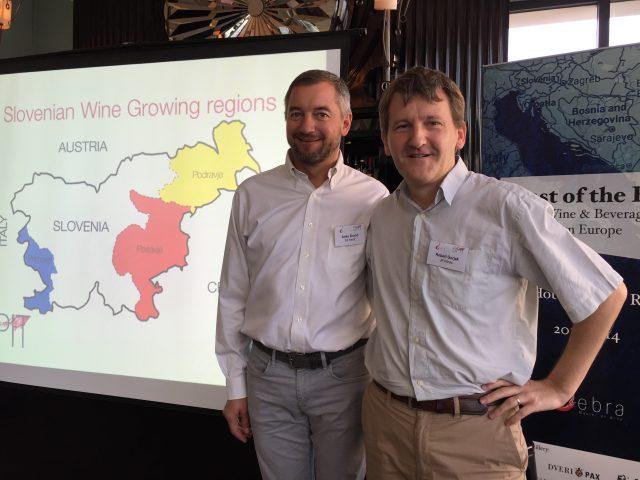 Aleks Simčič, winemaker from Edi Simčič winery, and Robert Gojak of JR wines