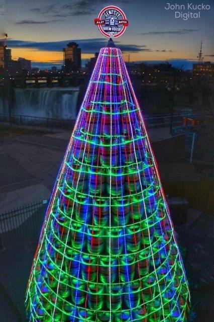 Genesee Keg Tree (Credit: John Kucko) (PRNewsFoto/The Genesee Brewery)