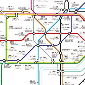 Map Of The London Tube.Alternative Tube Map Reveals London S Cheapest Pints