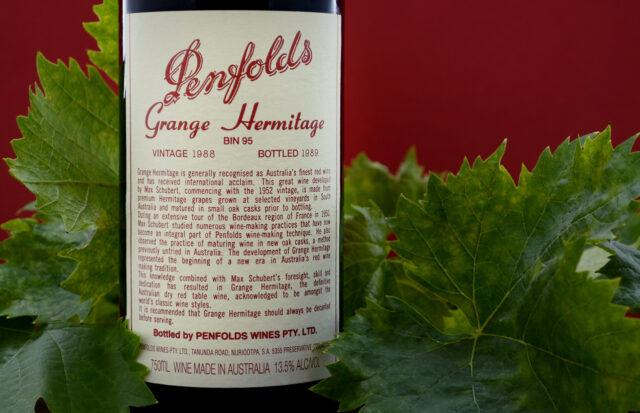 Bottle of Penfolds wine